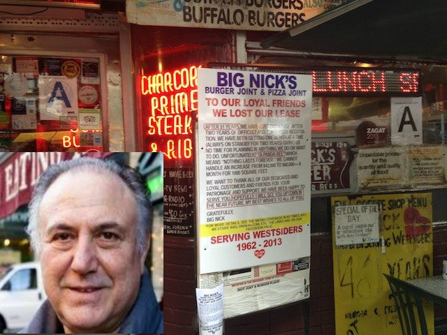 Photo of Nick Imirziades courtesy Sheri Kern; Photo of Big Nick's by Jen Chung/Gothamist