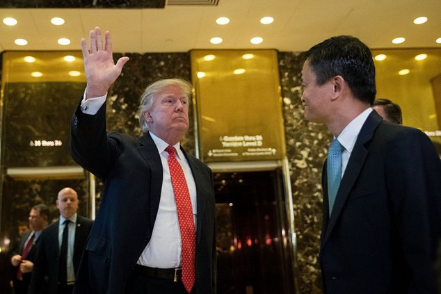 President Trump and Jack Ma of Alibaba at Trump Tower in January 2017