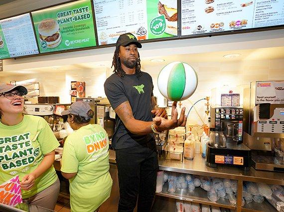 Deandre Jordan at Dunkin' Donuts